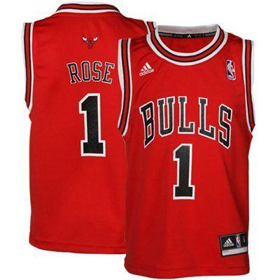 quality design 3d398 aa52c Preschool Chicago Bulls Derrick Rose adidas Red Replica Road ...
