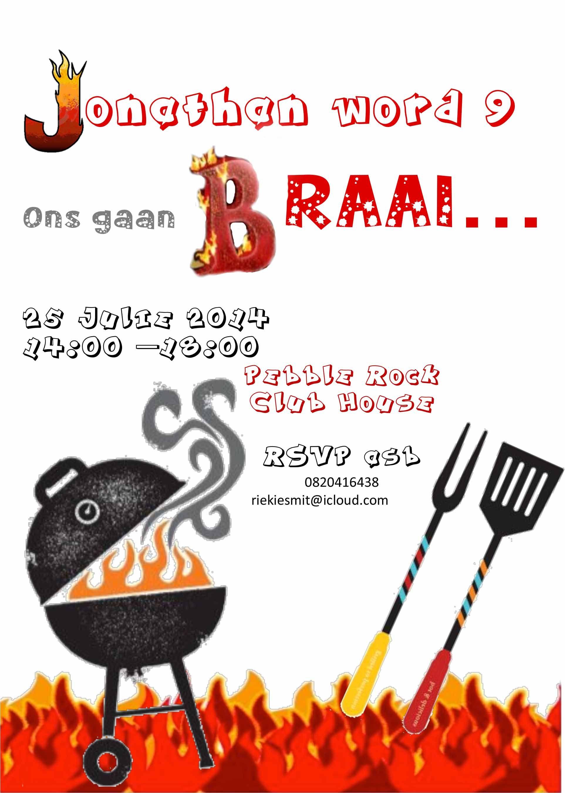 Backyard Bbq Party Cartoon