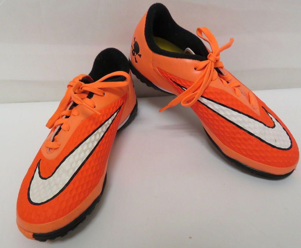 Nike Youth Hypervenom 3y Bright Neon Orange White Indoor Soccer Shoes Ebay Link Soccer Shoes Indoor Soccer Neon Orange