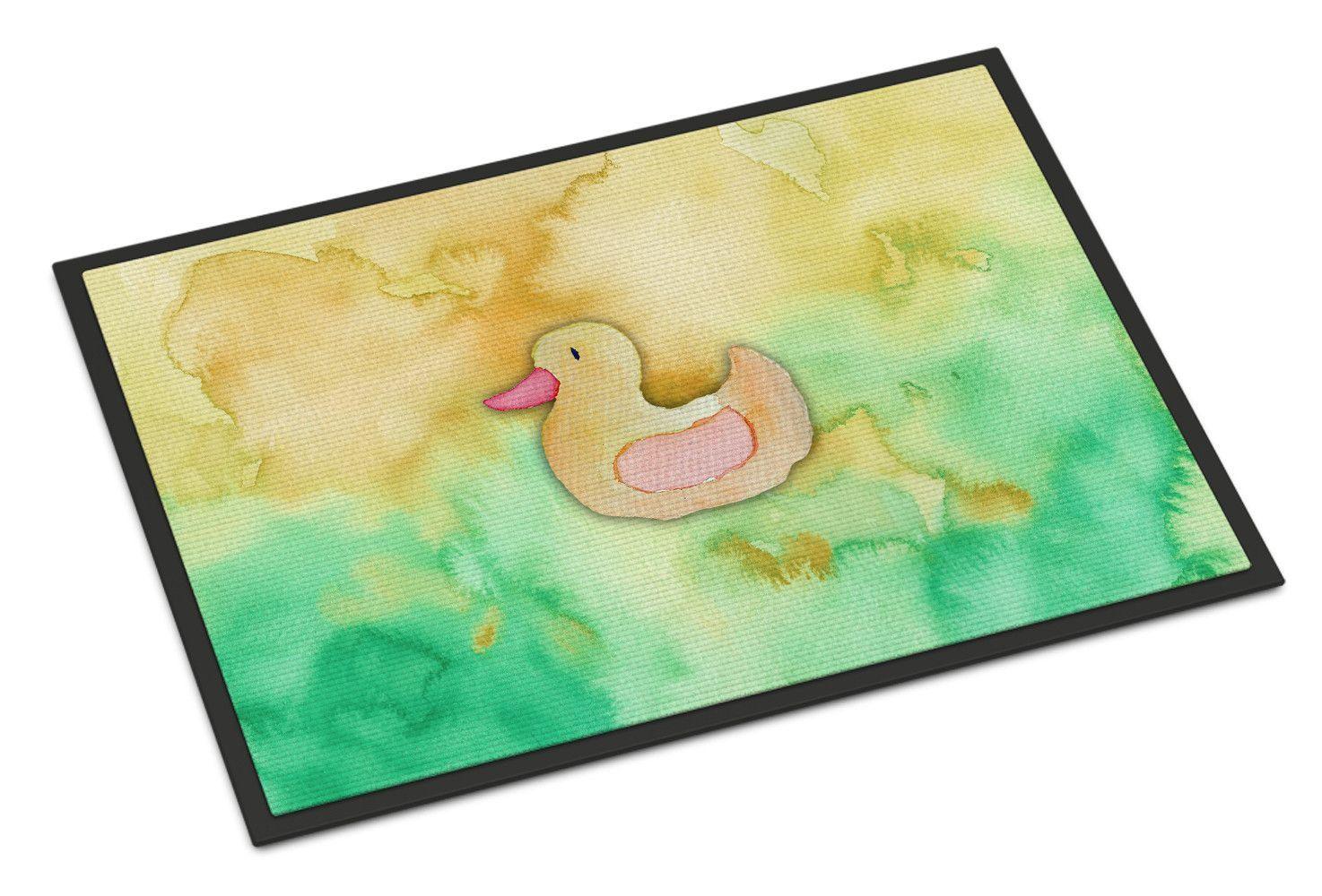 Rubber Duckie Watercolor Indoor or Outdoor Mat 24x36 BB7351JMAT