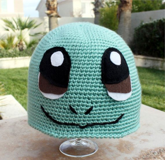 Squirtle crochet hat. See my version here: http://theemeraldstitch ...
