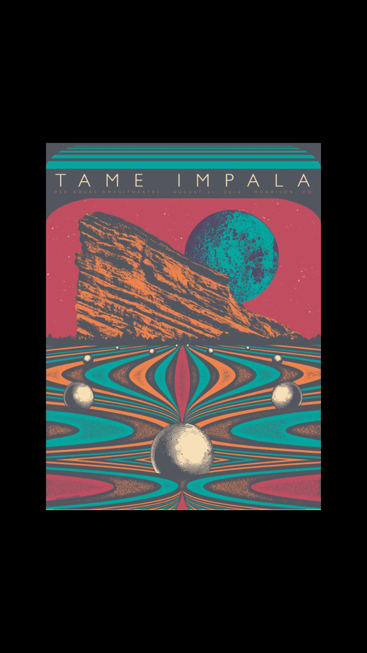 Tame Impala Red Rock Colorado Poster Psychedelic Art Tame Impala Rock Posters