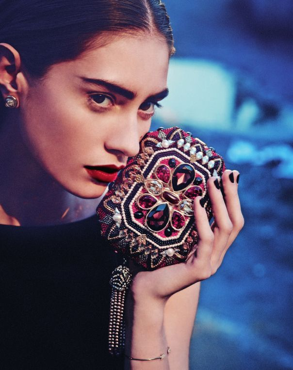 Marine Deleeuw by Serge Leblon for Bergdorf Goodman Magazine Pre Fall 2014 8
