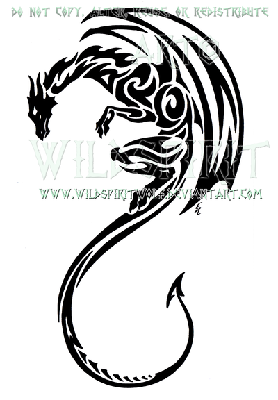 Vertical Tribal Dragon Design By Wildspiritwolf On Deviantart Tribal Dragon Tattoos Tattoos Dragon Tattoo Designs