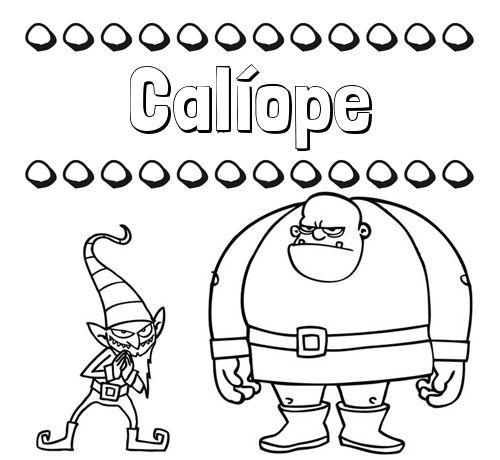Aprender A Colorear Su Nombre Un Ogro Y Un Duende Aura Fictional Characters Character