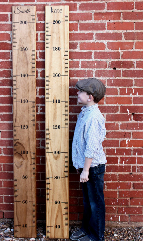 METRIC Growth Chart Ruler Alternating Style DIY Vinyl Decal On - Ruler growth chart vinyl decal