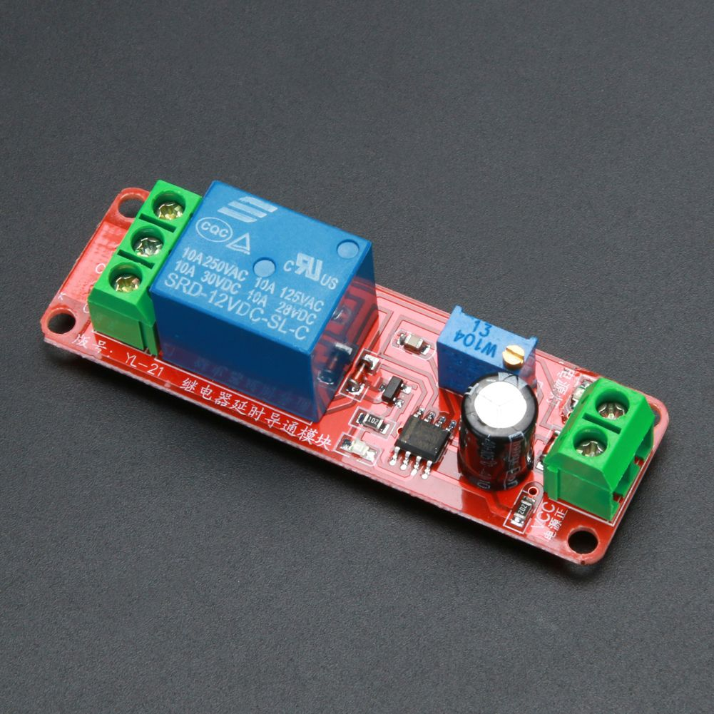 5pcs Dc 12v Delay Relay Modules Shield Ne555 Timer Circuit Toggle Using A 555 Switch Adjustable Module Multifunction Equipment