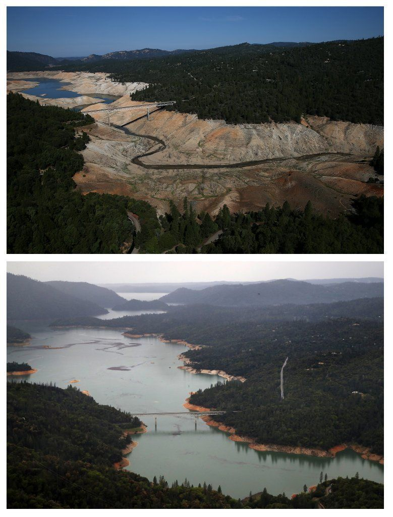 Before and After Photos of California Drought   POPSUGAR News