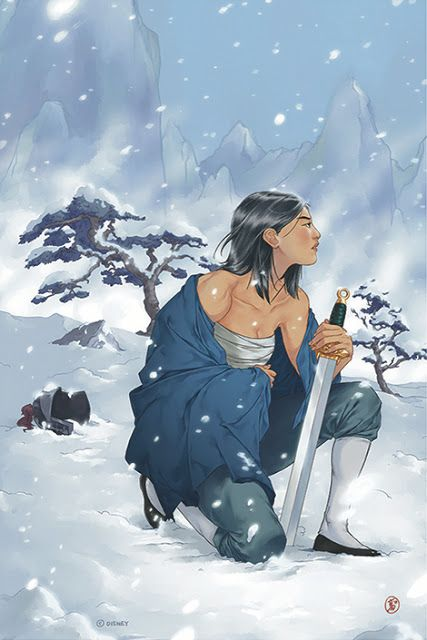 'A Woman's Resolve' by Irene Koh for the A Tribute Art Exhibition For The 20th Anniversary of Disney's 'Mulan' exhibition at Gallery Nucleus