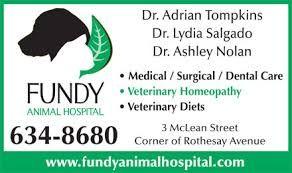 Dr Adrian Tompkins DVM Of Fundy Animal Hospital Website Link On