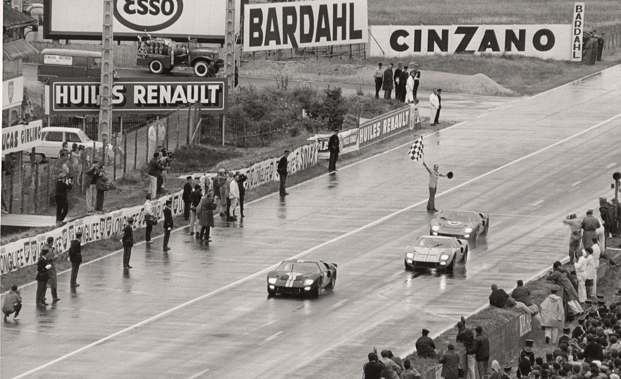 Ford Gts Finish 1 2 3 At 1966 Le Mans Le Mans Ford Gt40 Ford