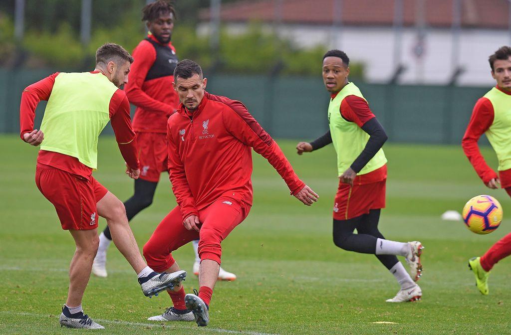 Adam Lallana With Dejan Lovren Of Liverpool During A Training Session Liverpool Dejan Lovren Photo