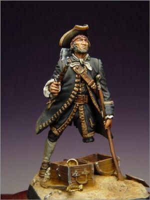 Dose Soldat Pirat John Silber Figur