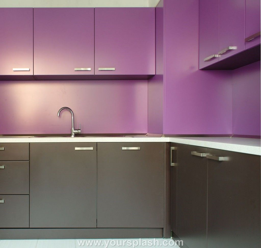 Purple And Gray Therrmo Foil Kitchen Cabinets House Pinterest