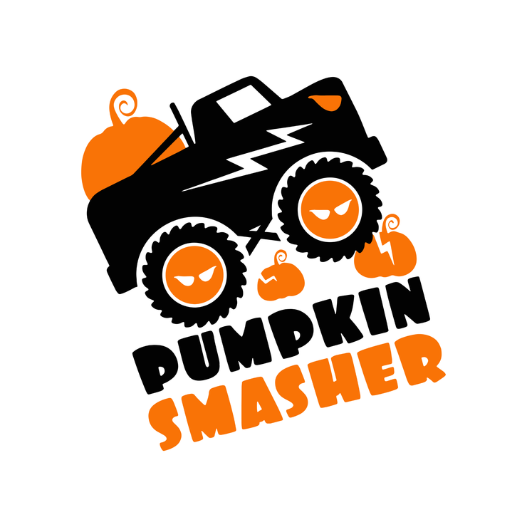 Pumpkin Smasher svg, Boy Halloween SVG, Pumpkin monster