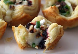 Experiment with your fave cheese & jam pairings!  Life Is Sweets: Brie Cheese and Cherry Jam Pastry Puffs