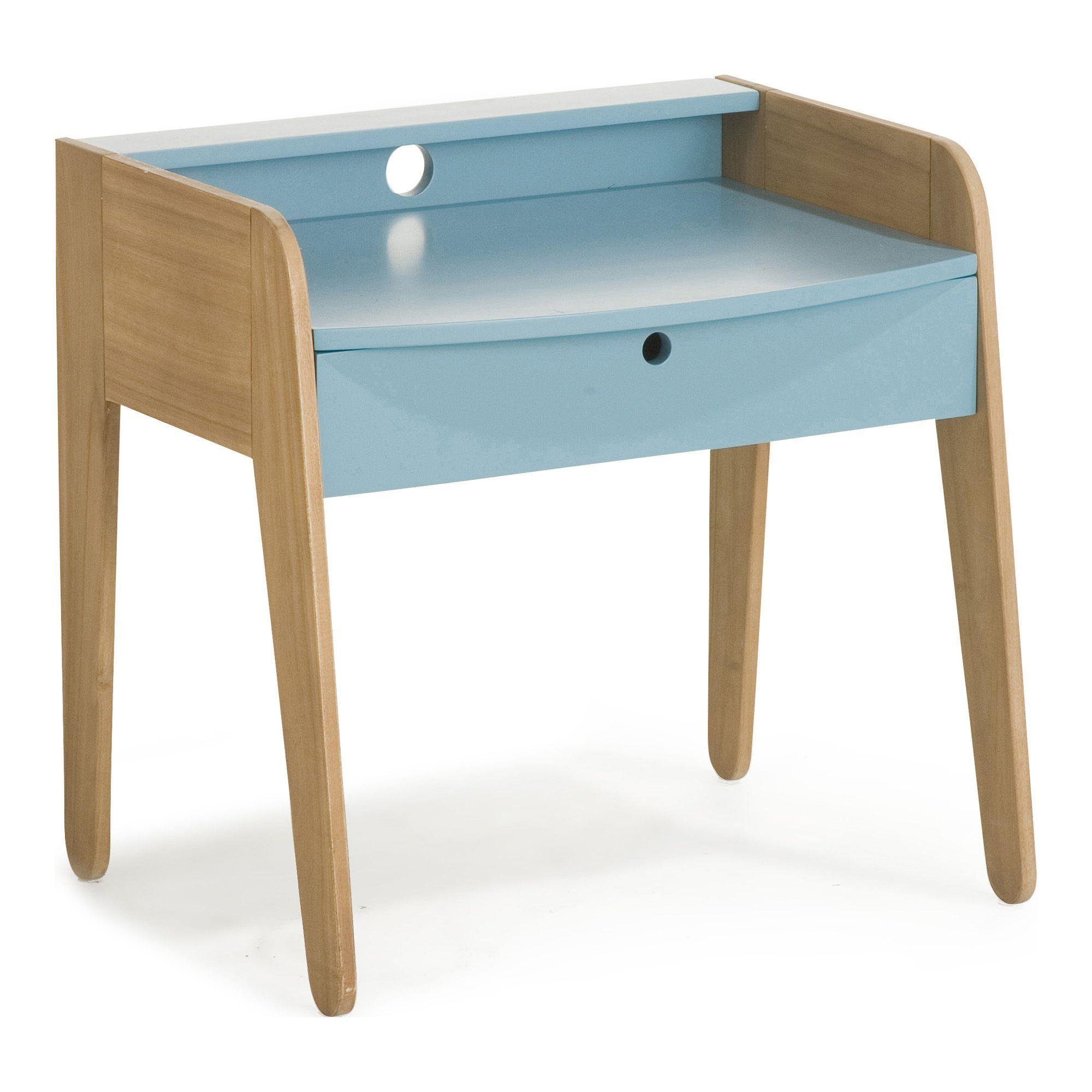 petit bureau vintage bleu pour enfant vintage bureaux enfants meubles pour chambre enfant univers des enfants par piece decoration interieur alinea