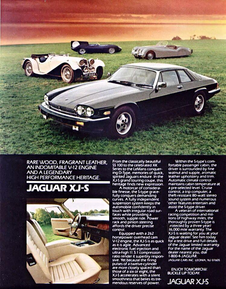 Original Advertisement   1980 Jaguar XJ-S Grand Touring ...