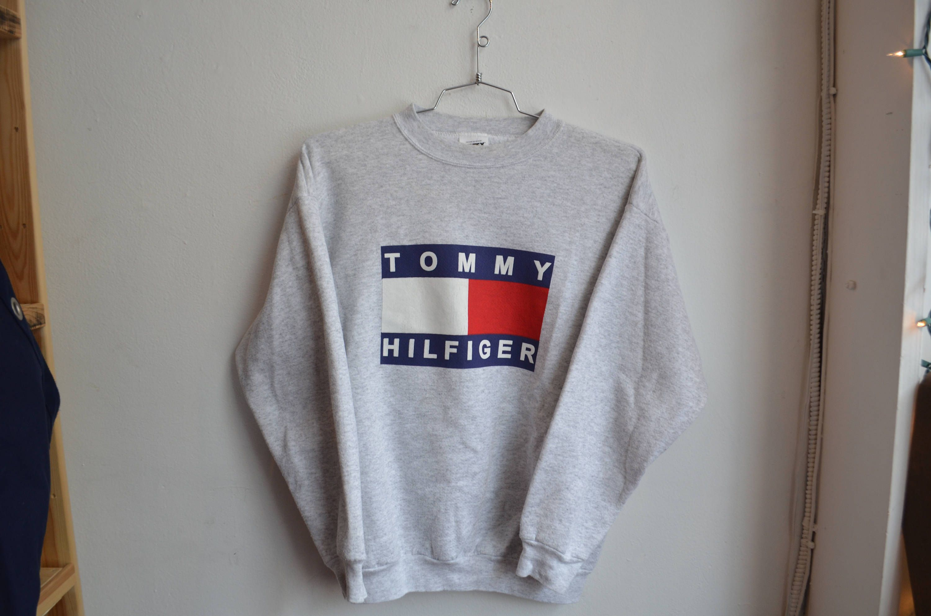 4c63cba4 Vintage 90s Bootleg Tommy Hilfiger Big Flag Unisex Crewneck Sweatshirt by  RadOTR on Etsy