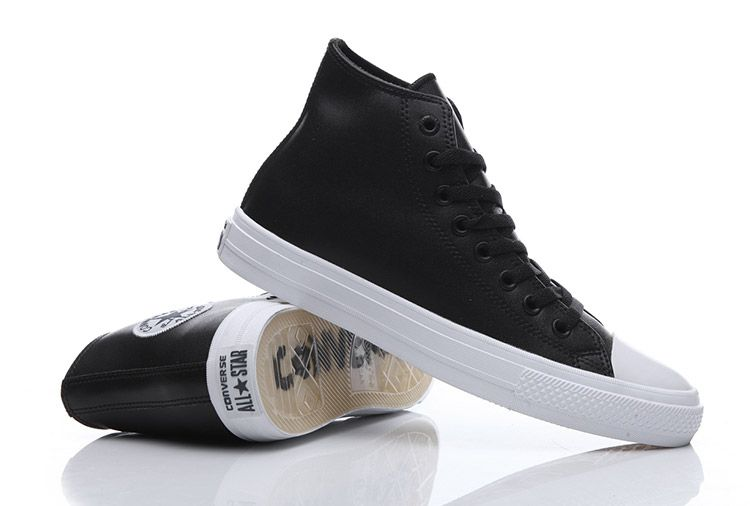 f33def3a4d5 Converse Chuck Taylor II Black Leather All Star High Tops Transparent Sole  Shoes #converse #shoes