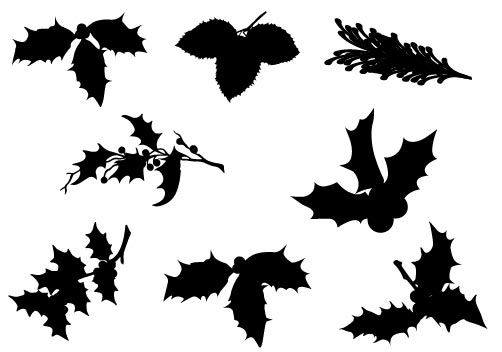 Christmas Leaf Vector Graphics Download Kerst Silhouet