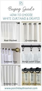 Confused by how drapes and curtains are hung what type to buy or want to know th...