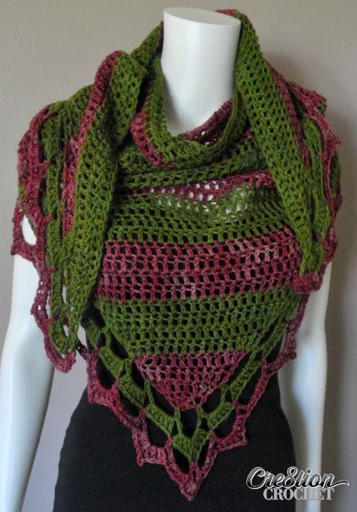 Napa Valley Shawl Free Triangle Shawl Pattern Cre8tion Crochet