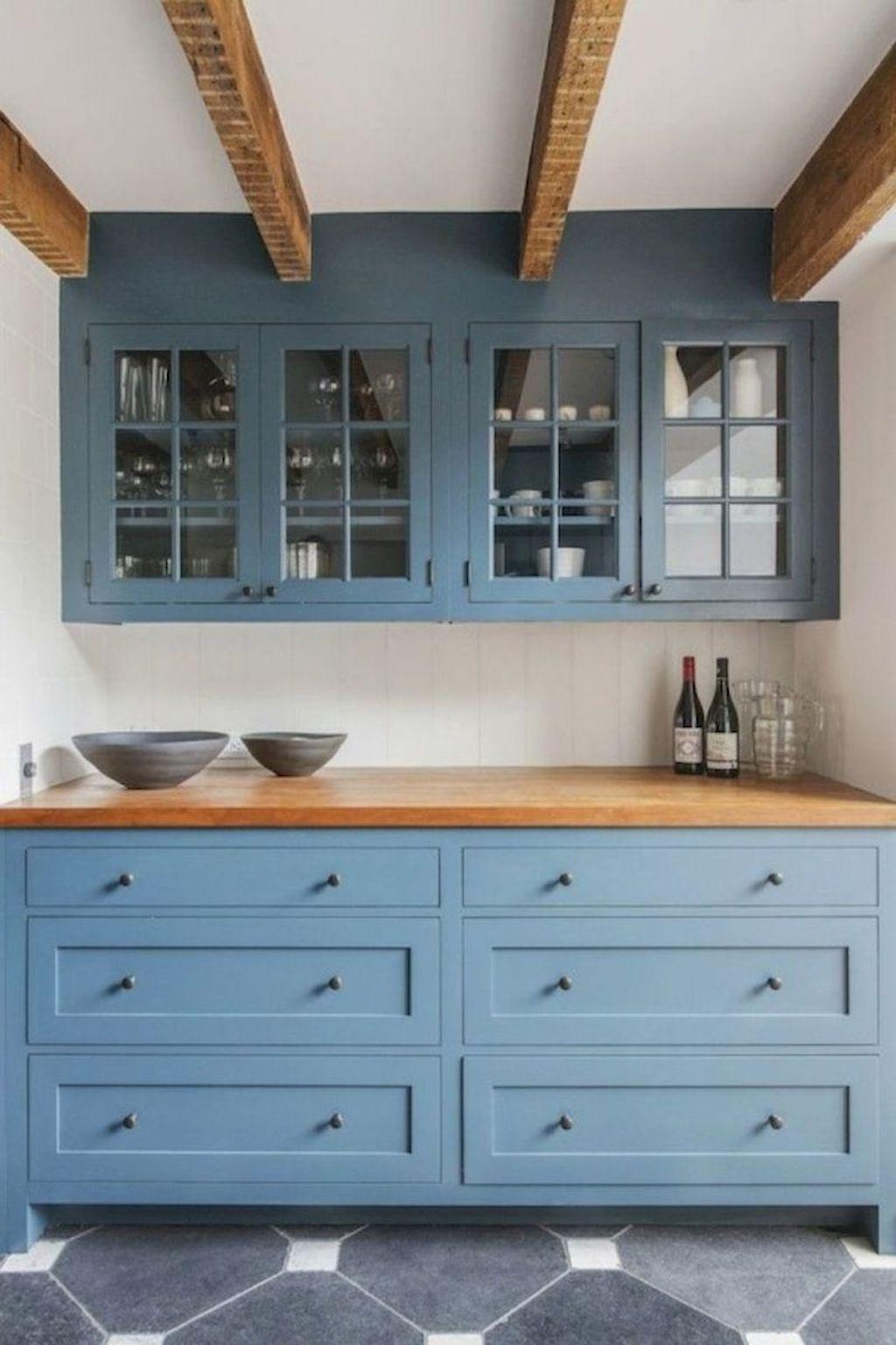 32 modern farmhouse kitchen cabinet makeover design ideas | Kitchen ...