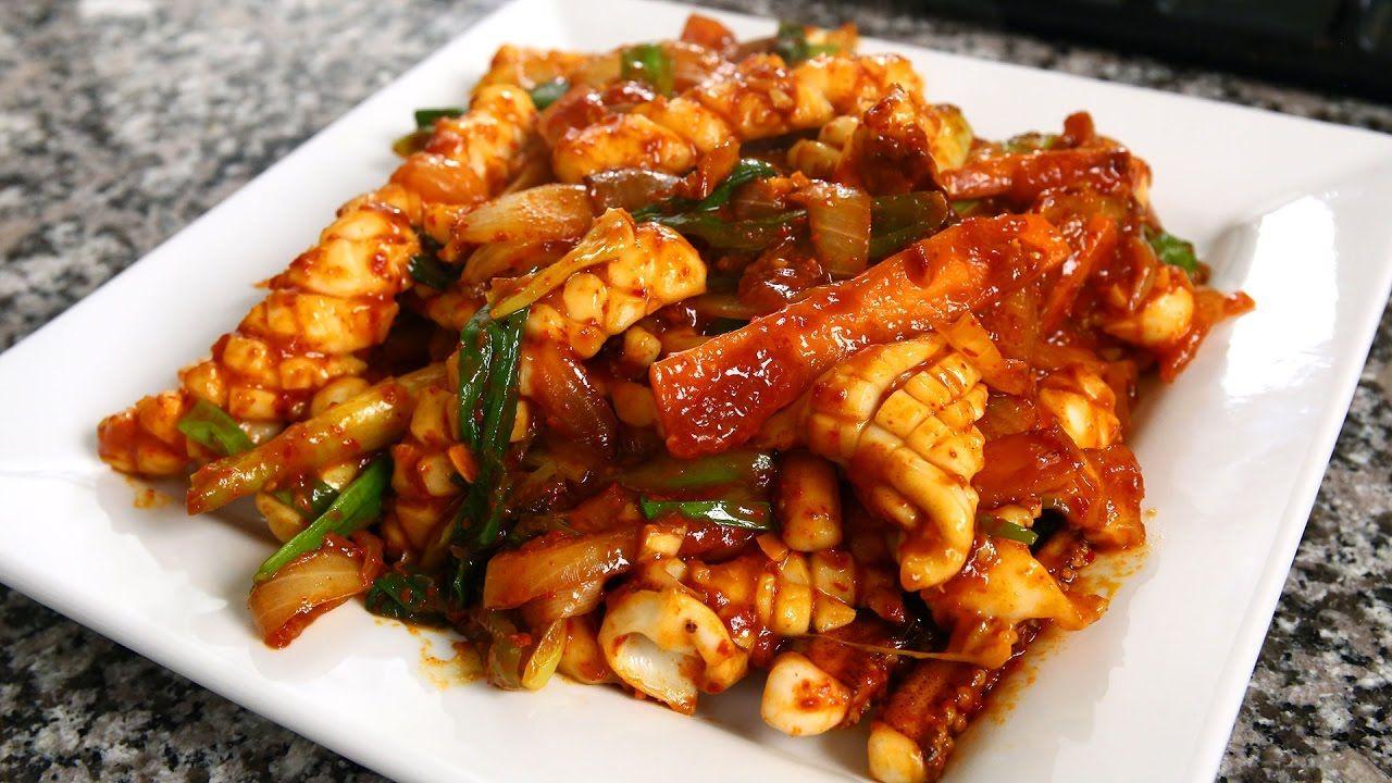 Spicy stir fried squid ojingeo bokkeum: 오징어볶음 10th