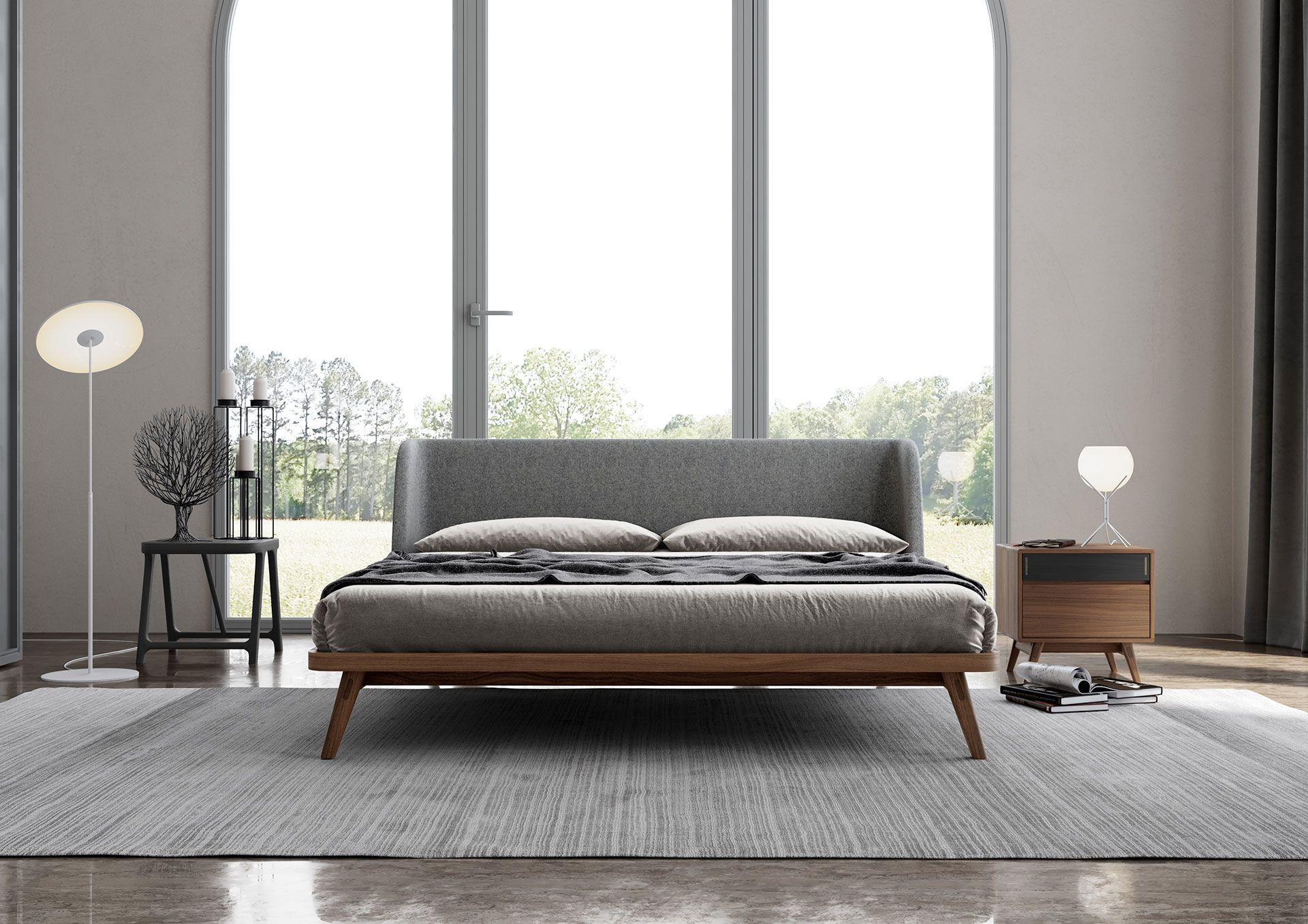 The Curved Lines Of The Haru Bed Provide A Glimpse Into Japanese