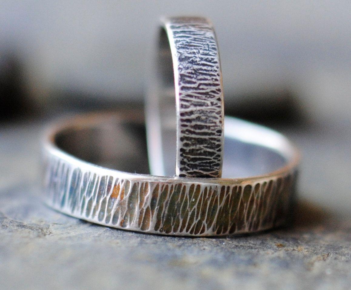 Wedding Rings Set Matching Wedding Bands Set Sterling Silver Rings 90 00 Via Etsy Matching Wedding Band Sets Wedding Ring Sets Matching Wedding Bands