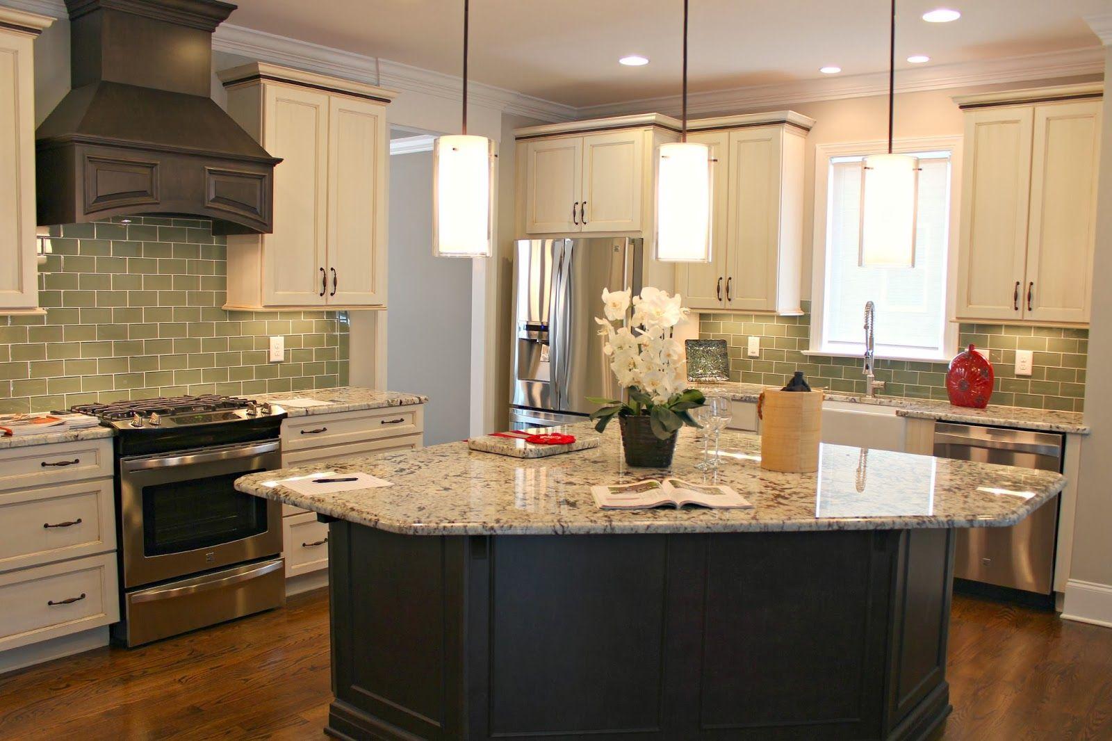 Furniture Wonderfull Triangular Kitchen Island With Beige Marble Top Nice Black Gloss Body Cool Clas Kitchen Triangle Kitchen Center Island Curved Kitchen