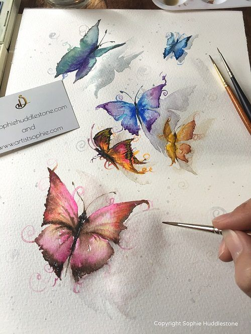 Sale Butterfly Watercolor Butterfly Painting Watercolor Pencil Art