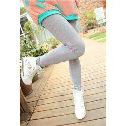 $5.63 Cute Polka Dot Print Slimming Cotton Leggings For Women