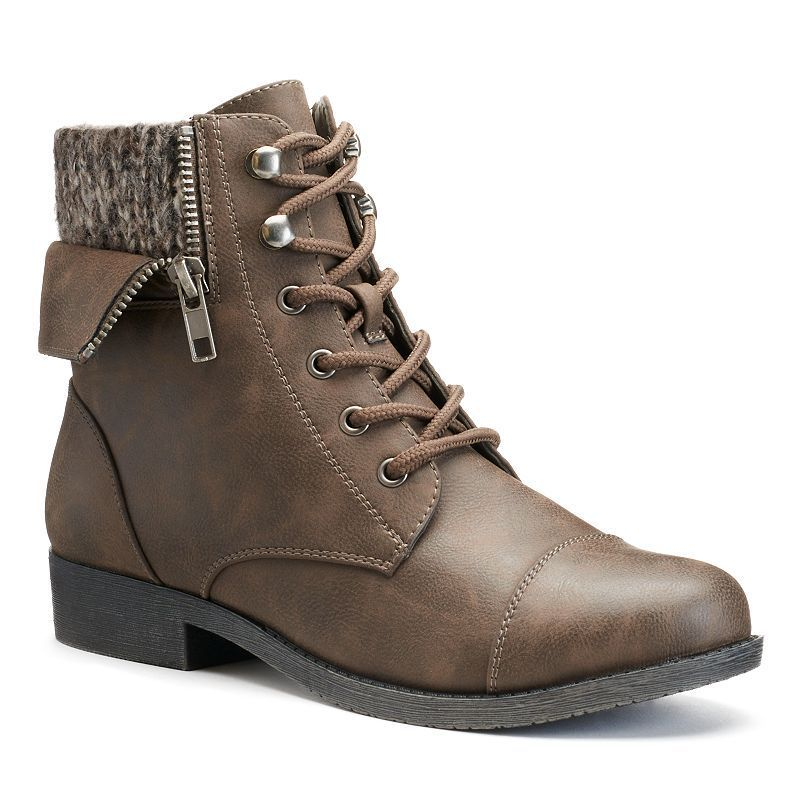 Mudd Womens Sweater Cuff Ankle Boots Products Pinterest