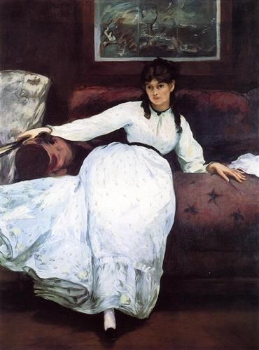 The Rest, portrait of Berthe Morisot - Edouard Manet