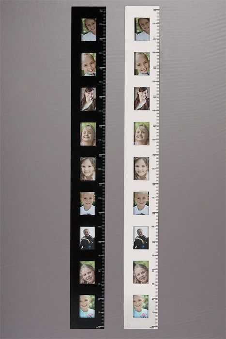 Photo Frame Height Charts In Black And White Growth Chart