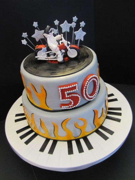Elvis Harley Birthday Cake