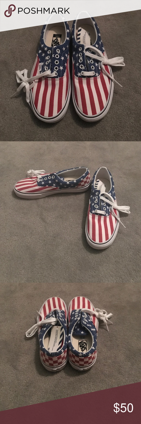 70537fb041bc NWT! American flag Vans size 10.5! Comes with box! Never worn. NWT ...