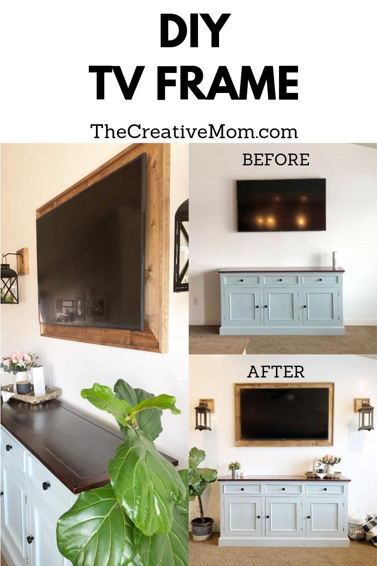 How To Frame A Tv Framed Tv Home Tv Wall Decor
