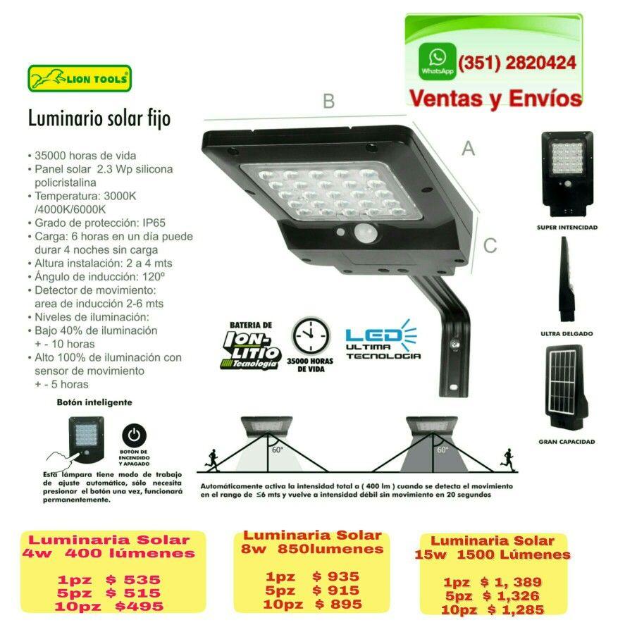 Pin En Lampara Solar Lion Tools