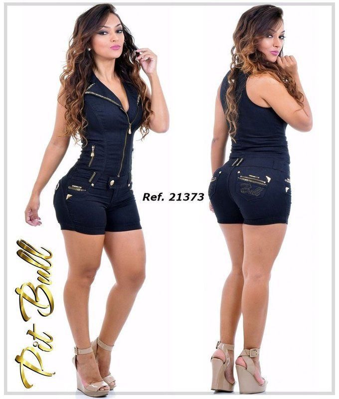 Macaquinho Pit Bull Jeans - calça pit bull c6c89a8694e