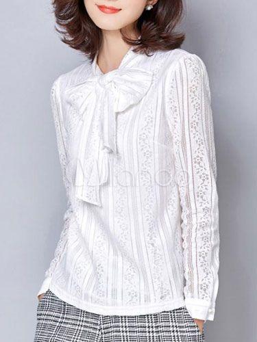 a1762e8f2 Arcos-de-rosa do laço blusa da moda para as mulheres | Costurando ...