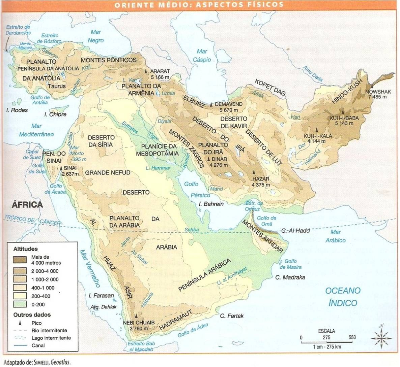 Oriente Mdio fsico relevo e hidrografia regio da Mesopotmia