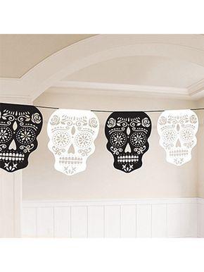 tag der toten sugar skull girlande halloween party deko. Black Bedroom Furniture Sets. Home Design Ideas