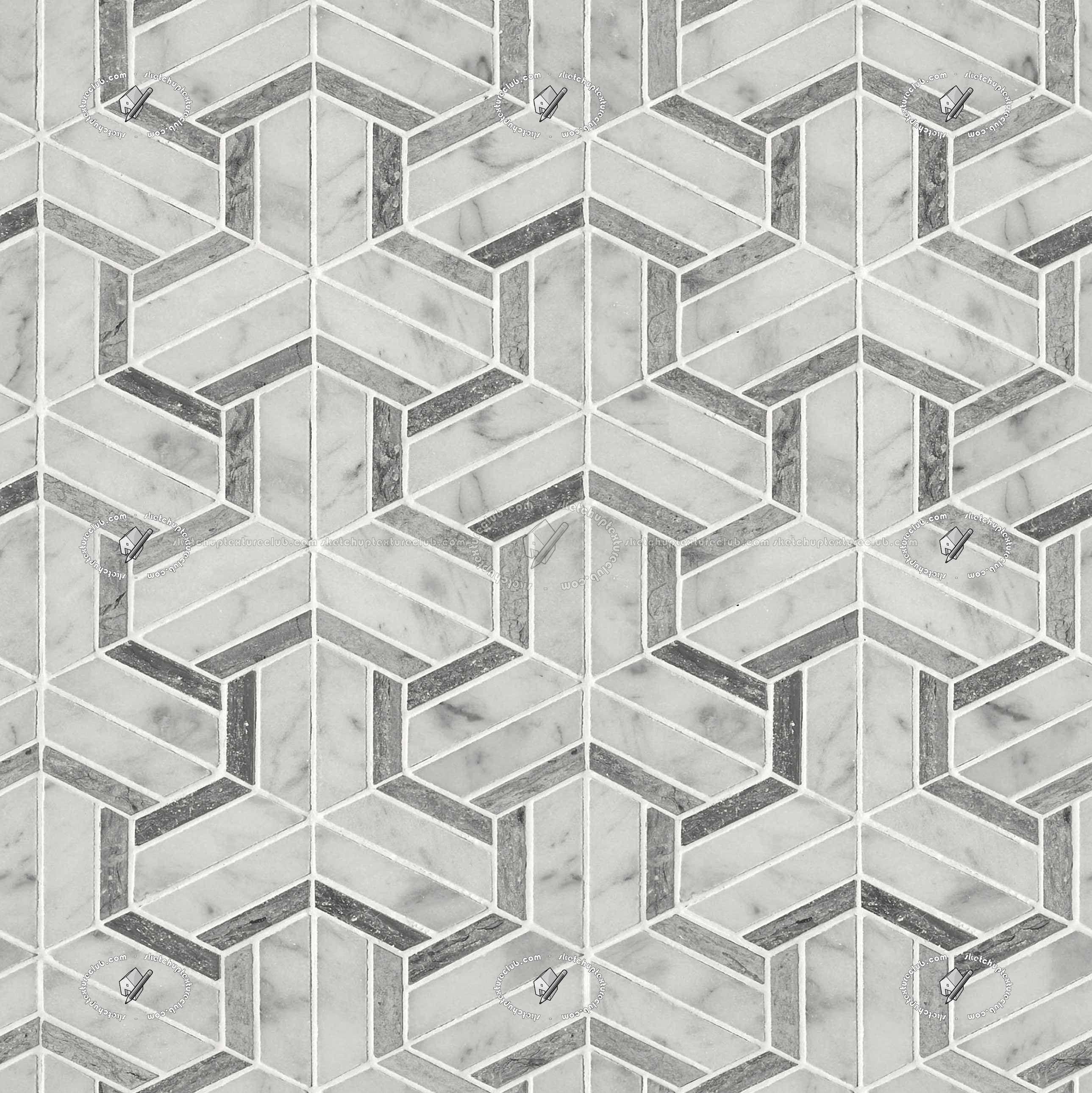 Marble Floor Tiles Geometric Patterns Texture Seamless Geometric