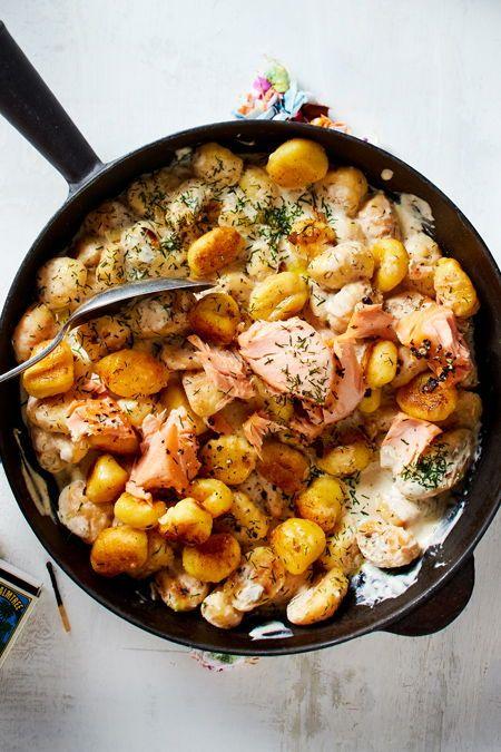 Photo of Fixed gnocchi pan with salmon recipe DELICIOUS