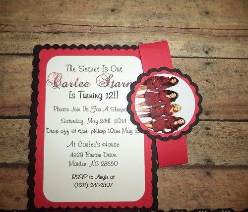 Pretty little liars birthday invitations birthdays pll and netflix pretty little liars birthday invitations timberlysdesigns seasonal on artfire stopboris Image collections