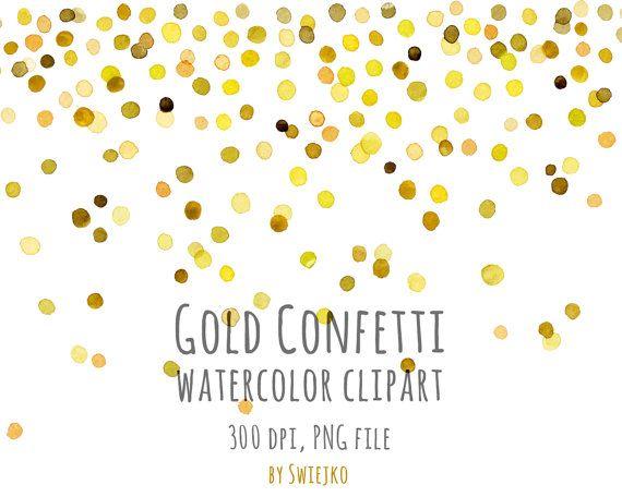 watercolor clipart digital confetti digital watercolor new year clipart