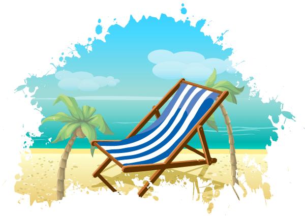 Free Summer Beach Vector Background Beach Crafts Beach Chairs Beach